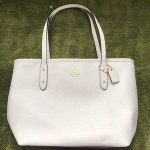 Coach Cream Shoulder Bag